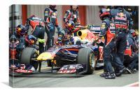 Sebastian Vettel released 2011, Canvas Print