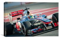 Lewis Hamilton 2012 Spain, Canvas Print