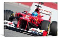 Fernando Alonso - Catalunya - 2012, Canvas Print