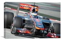 Jenson Button 2012 Spain, Canvas Print