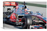 Jenson Button 2012 - Spain, Canvas Print