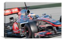 Jenson Button 2012 - Spain - Catalunya, Canvas Print