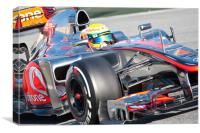 Lewis Hamilton 2012 - Spain, Canvas Print