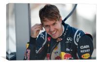 Sebastian Vettel 2012 - Spain, Canvas Print