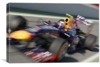 Mark Webber 2013 RedBull, Canvas Print