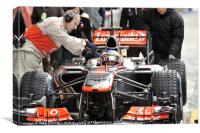 Jenson Button - Vodafone McLaren 2013, Canvas Print
