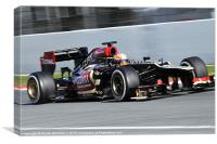 ROMAIN GROSJEAN - Lotus F1 Team 2013, Canvas Print