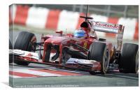 Fernando Alonso - Ferrari - 2013, Canvas Print