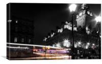 Edinburgh Light Trails, Canvas Print