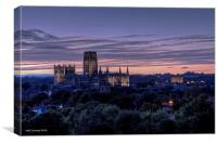 Durham Cathedral at Dusk, Canvas Print