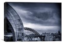 Over the Tyne, Canvas Print