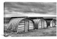 Lindisfarne Boat Huts, Canvas Print