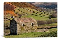 Swaledale Barns, Canvas Print