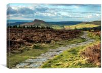 Roseberry Topping from Cleveland Way, Canvas Print