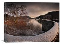 Carreg Ddu Winter Glow, Canvas Print