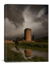 Tretower Storm, Canvas Print