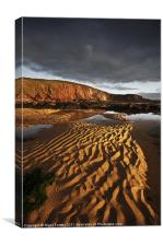 Freshwater West Sand Pattern, Canvas Print