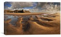 Three Cliffs Sand Pattern, Canvas Print