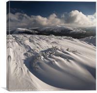 Snow swirls, Sugar Loaf, Canvas Print