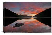 Caban Coch Sunrise, Canvas Print