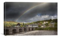 Crickhowell Rainbow, Canvas Print