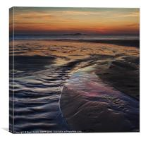 Whitesands sunset, Canvas Print