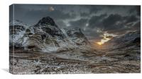 The Three Sisters, Glencoe, Scotland, UK, Canvas Print