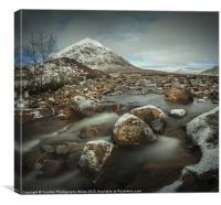 Buachaille Waterfalls, Glencoe, Scotland, UK, Canvas Print