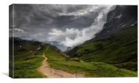 Path to Chamonix, Canvas Print