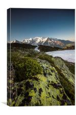 Mont Blanc morning light, Canvas Print