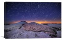 Pen y Fan Star Trails, Canvas Print