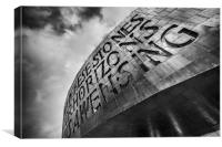The Millennium Centre at Cardiff Bay, Canvas Print