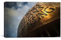 The Cardiff Millennium Centre, Canvas Print