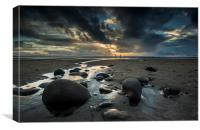 Newgale Sands Winter Light, Canvas Print