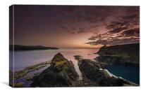 Abereiddy Sunset, Canvas Print