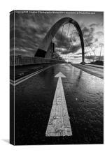 Squinty Bridge Arrow, Canvas Print