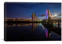 Squinty Bridge night-time cityscape, Canvas Print