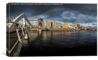 Squiggly Bridge Rainbow, Canvas Print