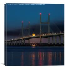 Severn Bridge Moonrise, Canvas Print
