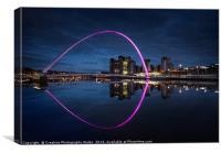 The Millennium Bridge on the Tyne at Night, Canvas Print