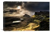 Quiraing Winter Storm, Isle of Skye, Canvas Print