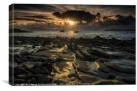 Elgol Pebbles Sunset, Canvas Print