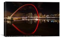 The Millennium Bridge, Newcastle upon Tyne, Canvas Print