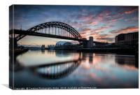 Thw Tyne Bridge at Dawn, Canvas Print