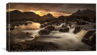 The River Sligachan on Isle of Skye, Canvas Print