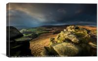 Stanage Edge, Peak District National Park, Canvas Print