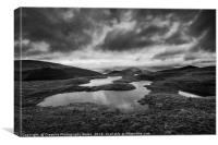 View to Tor y Foel, and Talybont Reservoir Brecon , Canvas Print
