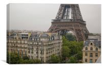 The Eiffel Tower, Canvas Print