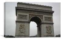 The Arc de Triomphe, Canvas Print
