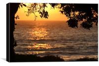 Sunset at Point Mugu, Pacific Ocean,CA, Canvas Print